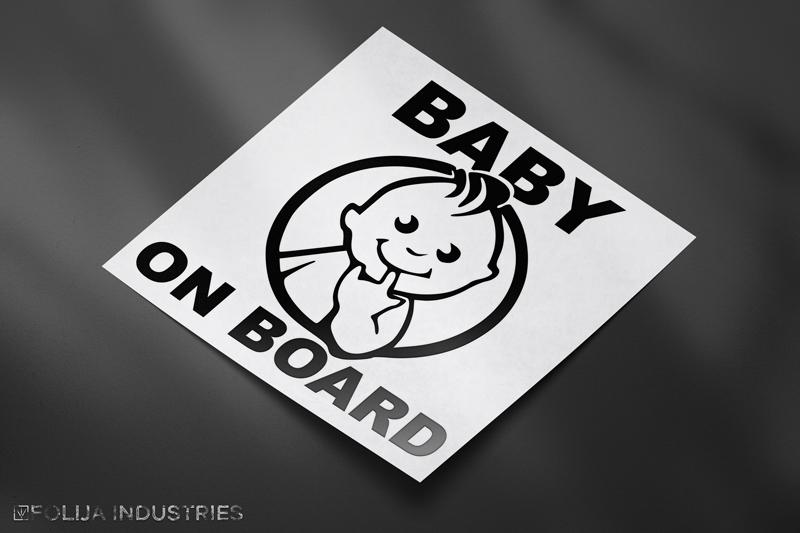 BABY ON BOARD Finger im Mund