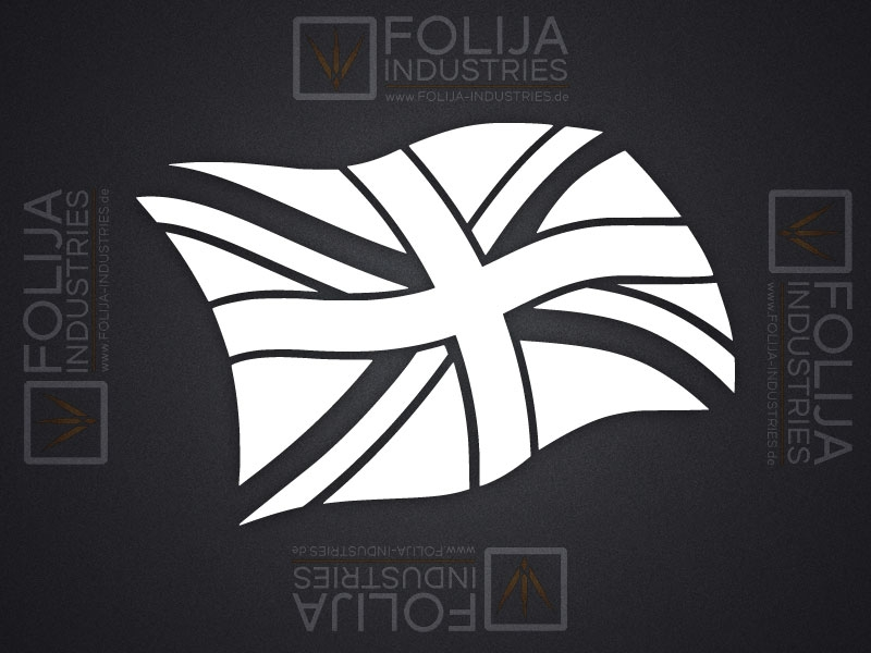 Union Jack Flagge im Wind